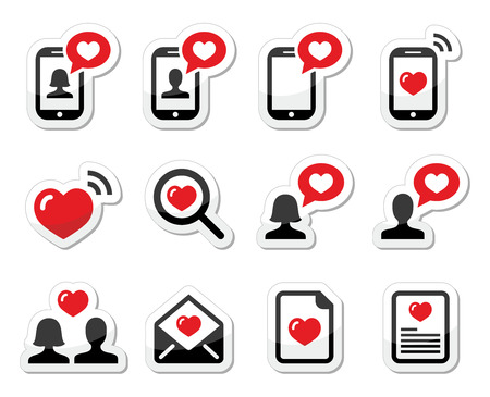 love couples: Love, couples, Valentine s Day icons set