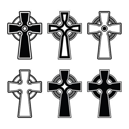 cruz religiosa: , Escocés celtic signo vector cruz irlandesa Vectores