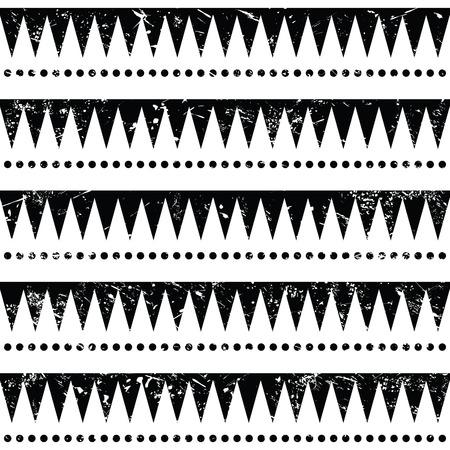 indigenous culture: Seamless aztec tribal pattern - retro, grunge style