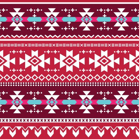 car ornament: Tribal aztec seamless pattern Illustration