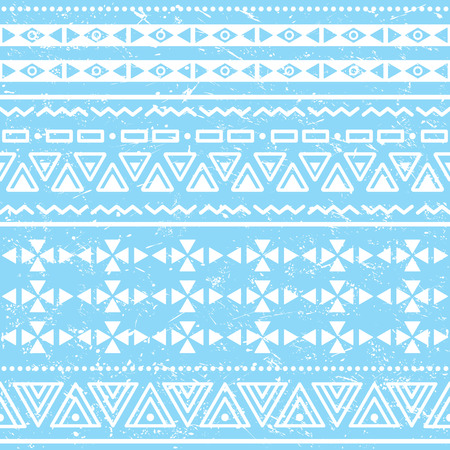 Tribal geometric aztec pattern - grunge, retro style Vector
