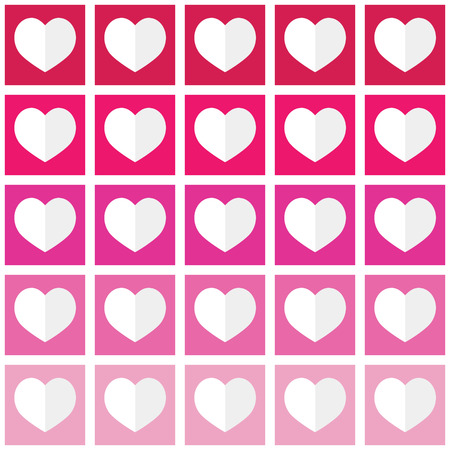 ombre: Seamless pattern with hearts