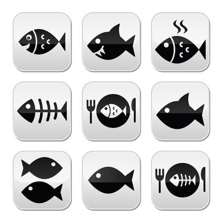 Fisch, Fisch auf dem Teller und Skelett-Tasten Standard-Bild - 25966209