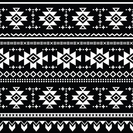Tribal aztec vector seamless pattern, print
