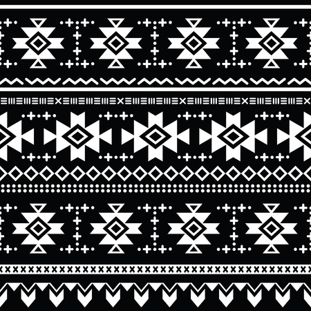 Tribal aztec vector seamless pattern, print Vector