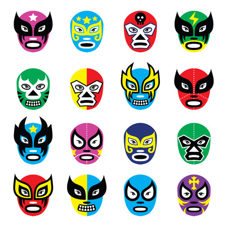 mexican culture: Lucha libre, luchador mexican wrestling masks icons