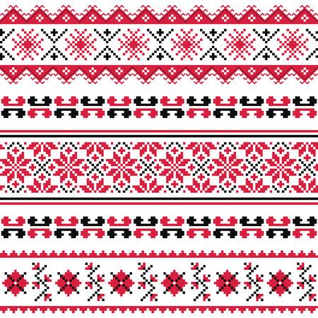 Patrón emboidery popular ucraniano o imprimir