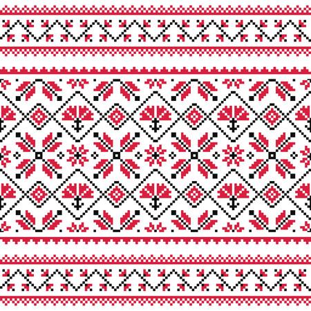 slavic: Ucraino, folk slavo maglia modello emboidery rosso o stampa
