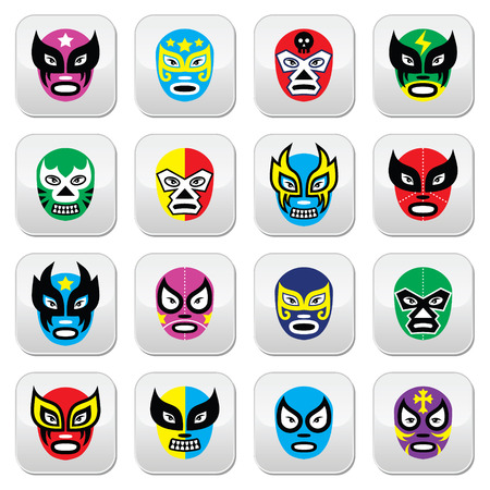 wrestler: Lucha Libre, Luchador Mexican wrestling masks icons