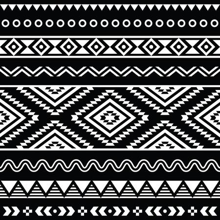 民俗シームレスなアステカ飾り、民族のパターン  イラスト・ベクター素材