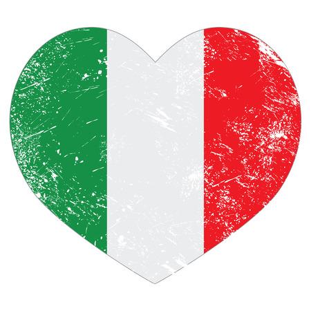 �conomie verte: Italie coeur r�tro drapeau