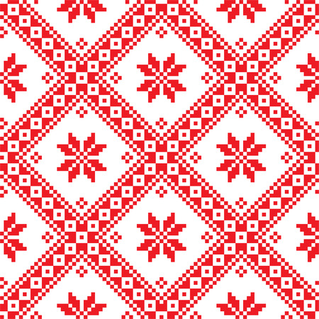 Seamless Ukrainian Slavic folk emboidery pattern Vector