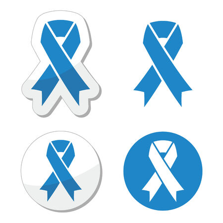 awareness ribbon: Blue ribbon - drunk driving, child abuse, anti-tobacco awareness symbol  Illustration