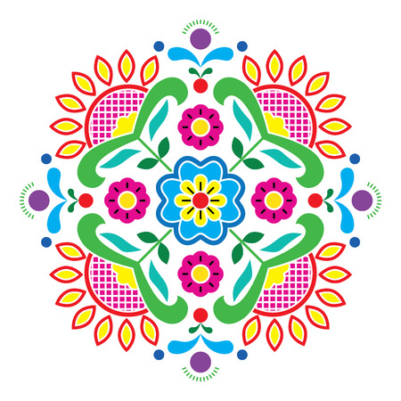 Noorse traditionele volkskunst Bunad patroon - Rosemaling stijl borduurwerk