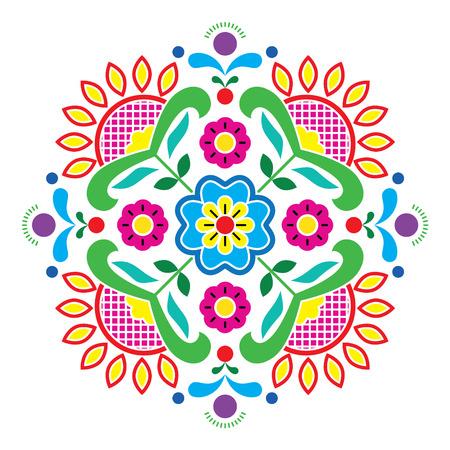 Patrón tradicional Bunad arte popular noruego - bordado estilo Rosemaling Foto de archivo - 28870453