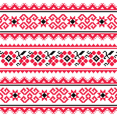 Ukrainian folk art embroidery pattern or print  Vector