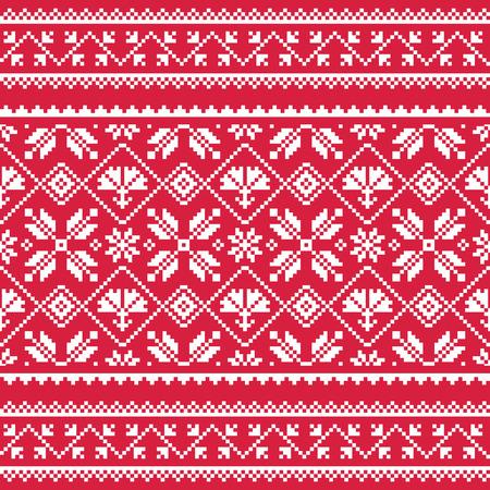 slavic: Ukrainian, Slavic folk art white embroidery pattern on red