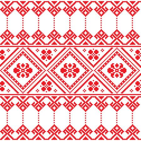 Ukrainian folk art floral embroidery pattern or print   Illustration