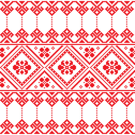russian pattern: Ukrainian folk art floral embroidery pattern or print   Illustration