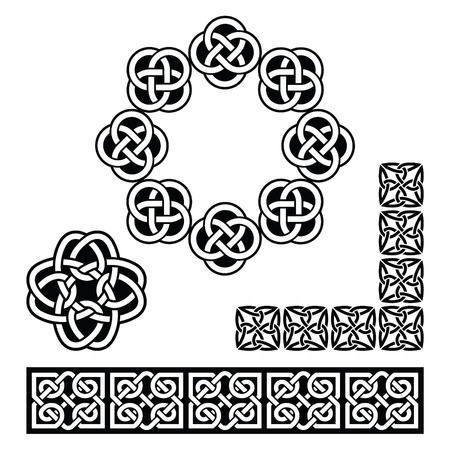 Irish Celtic design - patterns, knots and braids Vector