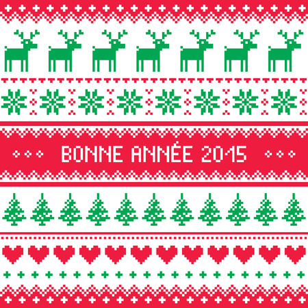 bonne: Bonne Annee 2015 - French happy new year pattern    Illustration