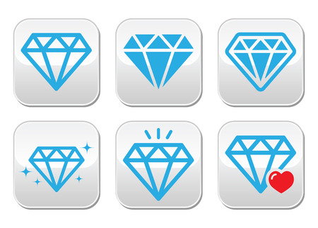 karat: Diamond luxury vector buttons set