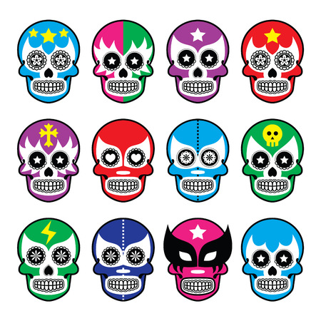 wrestling: Lucha Libre - sugar skull masks icons