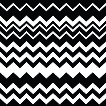 Tribal Aztec zigzag seamless black and white pattern   Vector