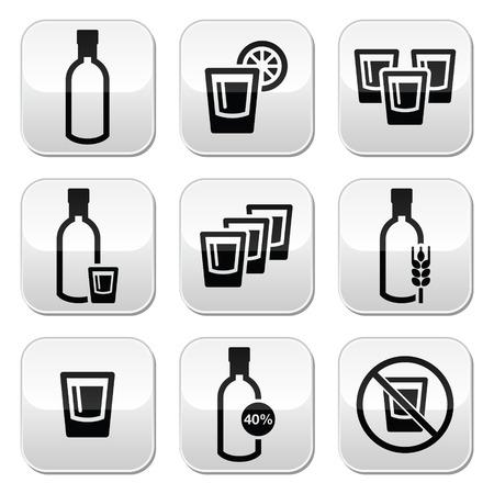 moonshine: Vodka, strong alcohol buttons set