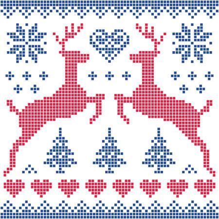 sueteres: Invierno, navidad roja y tarjeta de patrón de la marina de guerra Vectores