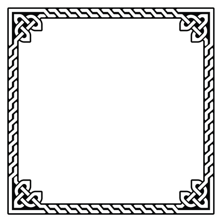 braid: Celtic frame, border pattern - vector