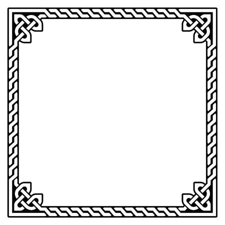 Keltische frame, grens patroon - vector