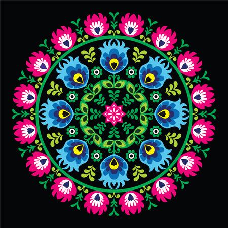 Wzory Lowickie, Wycinanka 블랙 - 폴란드어 전통 원 민속 예술 패턴