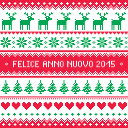 anno: Felice Anno Nuovo 2015 - Italian happy New Year pattern