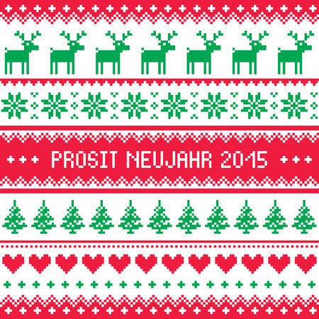 Prosit Neujahr 2015 - Happy New Year in German pattern