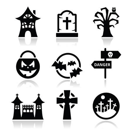 Halloween vector icons set Vector