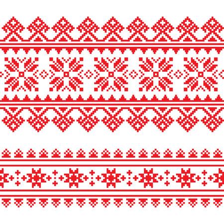 Traditionele folk gebreide rode borduurwerk patroon uit Oekraïne