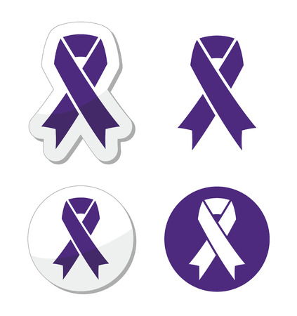 awareness: Indigo ribbon - bullying, stalking awareness symbol