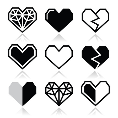 Geometric heart for Valentine\\ Vector