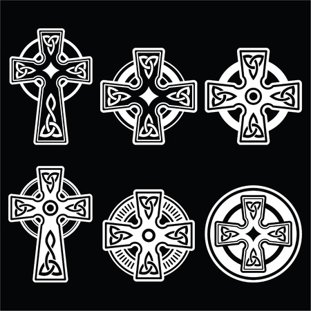 celtic: Irish, Scottish Celtic white cross on black