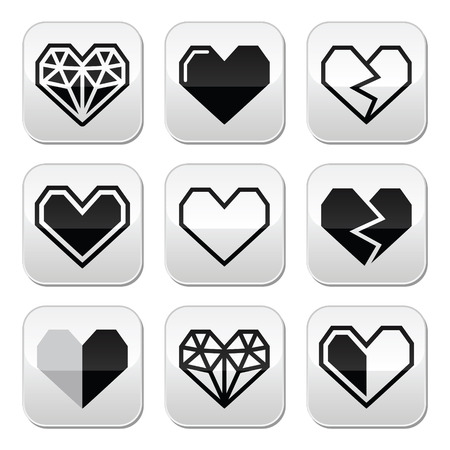 Geometric heart for Valentines Day Vector
