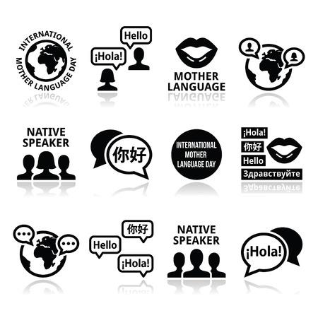 cultura: Iconos del Día Internacional de la Lengua Materna establecen