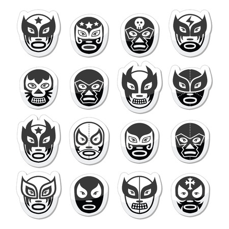 mask woman: Lucha libre, luchador Mexican wrestling black masks icons
