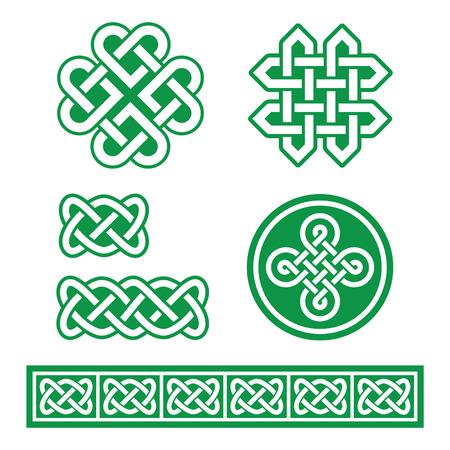Celtic Irish patterns and braids - St Patricks Day Vector