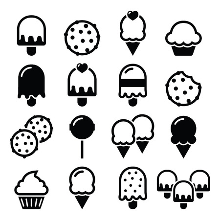 chocolate cookie: Food, desserts icons - cupcake, ice-cream, cookie, lollipop