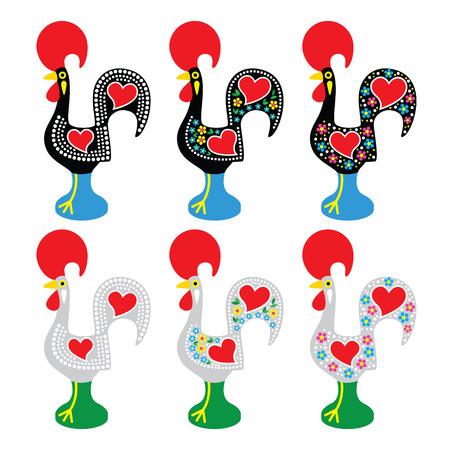 Portuguese Rooster of Barcelos - Galo de Barcelos icons