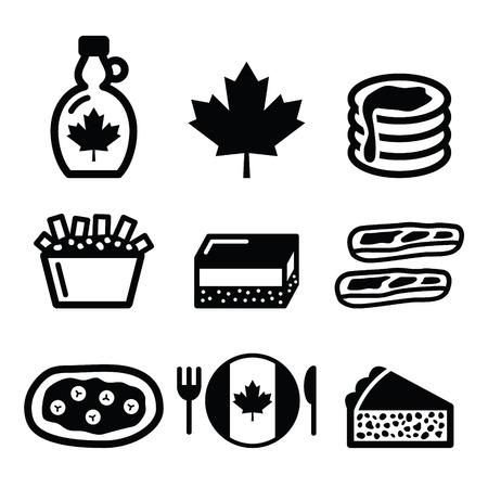 maple syrup: Iconos de los alimentos de Canad� - jarabe de arce, poutine, bar nanaimo, cuento castor, tourti re?