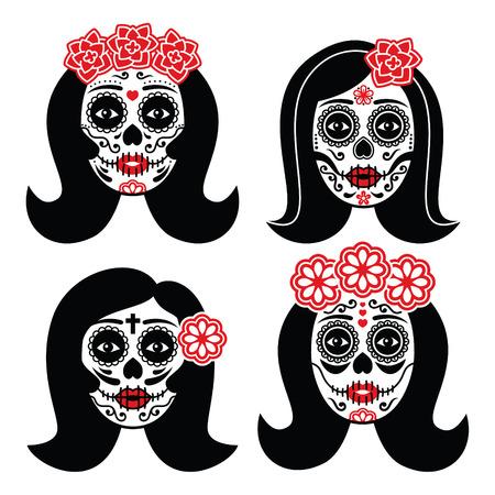 Mexicaanse La Catrina - Dag van de Dode Schedel van het meisje