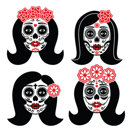 Mexican La Catrina - Day of the Dead girl skull Imagens - 38998174