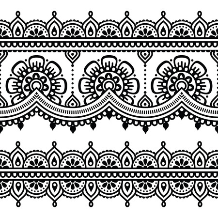 henna pattern: Mehndi, Indian Henna tattoo seamless pattern